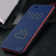 Dot View Flip smart Case Cover HTC desire 620/620g/820mini Auto Sleep Wake Function Silicon Matrix view Phone dot Case