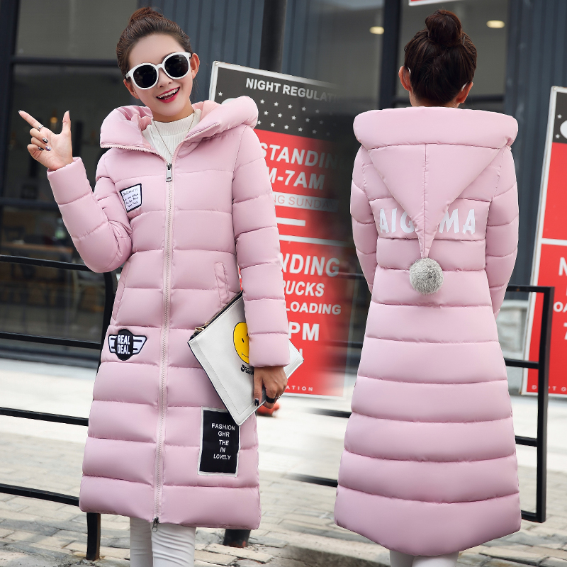 Winter wadded jacket female cotton-padded jacket down thickening outerwear medium-long 2017 slim top cotton-padded jacket Одежда и ак�е��уары<br><br><br>Aliexpress