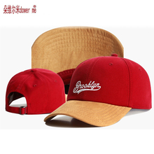 big sale new 2 color red black classic hip hop  brooklyn bboy Snapback caps fashion gorras adjustable men women curved visor