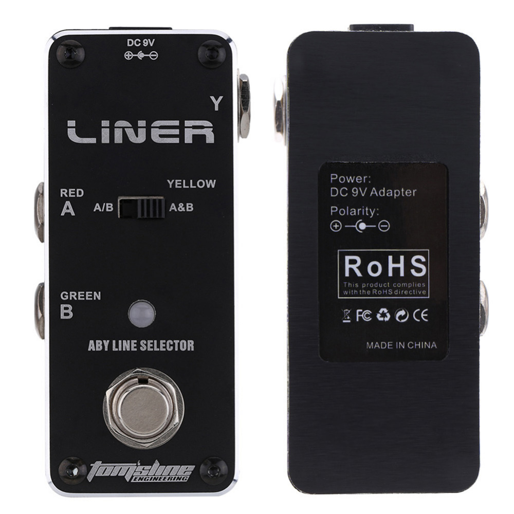 Tomsline ALR-3 Guitar Effect Pedal Accessories Liner Aby Line Selector Mini Electric Guitar Effect Pedal Ture Bypass <br>