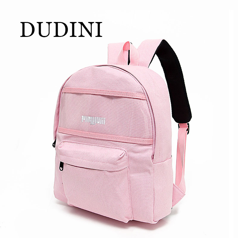 DUDINI Women Bag Creative Transparent Stitching Bag Embroidered Leisure Shoulder Bags Boys And Girls Backpack Black / Pink <br><br>Aliexpress