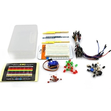 Starter-Kit Breadboard Led-Capacitor Arduino-Beginners Resistor Jumper-Wires Elecrow