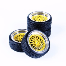 RC Drift Tires Wheel Rim 10042+20022  For 1/10 Drift Car Model Toys 4 Pcs Set Accessory