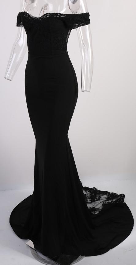 فستان سهرة  Missord جذاب مع ذيل وذو تصميم مميز 23