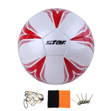 free shipping football No 5 high quality red white model 408(China)