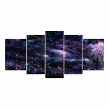 5 pieces Canvas Prints Art HD Painting Picture Night Star Sky Galaxy Unframed Wall Pictures Home Decoration