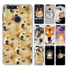 New Doge wow Cute Funny Emoticon style White phone Case for Huawei Honor 8 lite V8 FOR HONOR 6X 5X 4X 5C 4C(China)