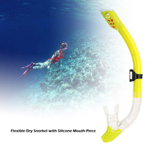 Scuba Valve Detachable Scuba Snorkel Breathing Tube for Water Sports Swimming Diving with Silicone Mouthpiece Purge Valve 4Color(China)