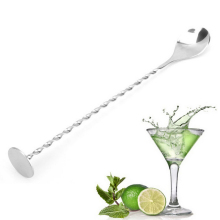 New Stainless Steel Threaded Bar Spoon Swizzle Stick Coffee Cocktail Mojito Wine Spoons Barware Bartender Tools(China)