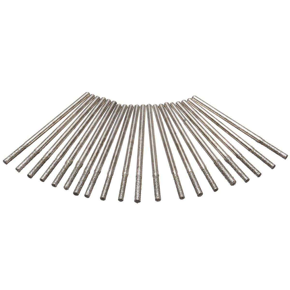 20 X 2mm Diamond Drill Bits Set Hole Saw Cutter Tool Ceramic Marble Tile
