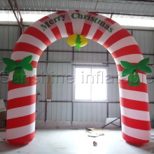 10foot Wide christmas inflatable candy cane arch  inflatable christmas arch for christmas advertising and decoration