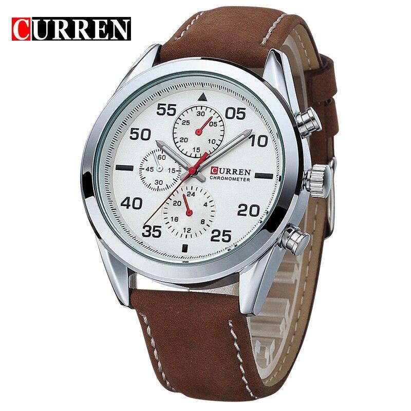 CURREN Men watch men Business Quartz Watches Top Brand Luxury Military Wristwatches Leather Sports Masculino 8156<br><br>Aliexpress