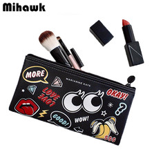 Mini girl's Cute Cosmetic Bag Travel Makeup pouch Organizer Beauty Brushes Lipstick Toiletry Storage Cases Accessories Supplies