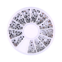 1800pcs 1.5mm 3D Nail Art Rhinestones Decorations Glitter Wheel Beauty Manicure Nails Stickers Make Up DIY Nails Art Decoration