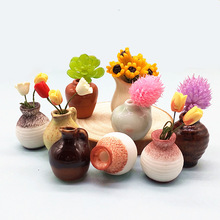 Mini Flower Vase Pot Miniature Bonsai Decoration Home Garden Dollhouse Toy Craft Ornaments Micro Decor DIY Gift Drop Shipping