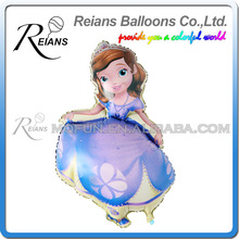 50pcs/lot REIANS 102 cm Huge Cartoon Foil Balloons Happy Birthday Helium Balloon Princess Sofia Party Decoration Inflatable ball(China)