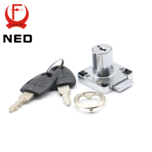 12PCS NED136-22 Furniture Drawer Locks Office 16mm Lock Core 22mm Length Cabinet Desk Lock Home Hardware With Iron/Plastic Keys