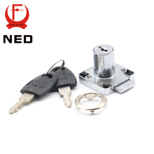12PCS NED136-22 Furniture Drawer Locks Office 16mm Lock Core 22mm Length Cabinet Desk Lock Home Hardware With Iron/Plastic Keys(China)