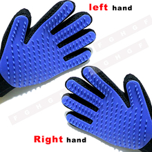True Touch Deshedding Brush Glove Pet Dog Cat Gentle Efficient Massage Grooming and For Pet Washing Gloves Goods hair Pet Finger