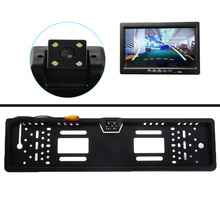 Waterproof European License Plate Frame Car Reverse Backup Rearview Camera Car Styling(China)