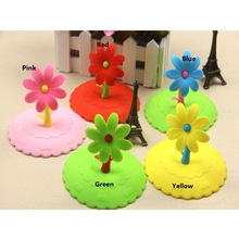 Cute Anti-dust Silicone Saplings Cup Cover Coffee Cup Suction Seal Lid Cap Silicone Airtight Love Spoon Novelty
