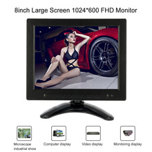 8/5/4.3/3.5 inch FHD 1024*600 TFT LCD Car Monitor Screen Video AV BNC VGA Input for Security Camera DVR System Rear View Display