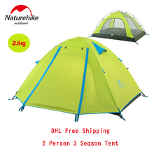 Naturehike Outdoor 1 Room 3 Season 2 Person Hiking Camping Tent Double-layer Nylon Waterproof Travelling Tents Camping Equipment