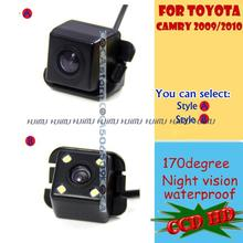 wireless wire CCD HD LEDS Car Rear View camera backup reverse asssit original hole for sony Toyota Camry 2009 2010 2011 PAL/NTSC