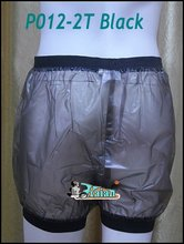 2 pieces  * ADULT BABY incontinence PLASTIC PANTS Transparent P012-2T+Full Size:M / L / XL / XXL