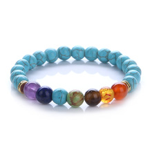 Buy Natural Stone Purple lapis lazuli Tiger Eye Lava Colourful Mixed Bead Elastic Yoga 7 Chakra Bracelet Women Jewelry for $1.34 in AliExpress store