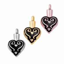 IJD9611 Personalized Heart Urn Necklace Hold Human/Pet Funeral Ashes Keepsake Cremation Locket Jewelry Pendant For Human(China)