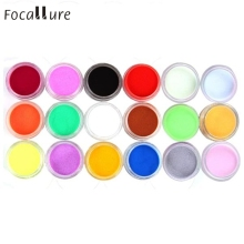 18 Colors Acrylic Carving Powder Dust UV Gel Design 3D Tips Decoration Manicure Nail Art Good Quality J170106