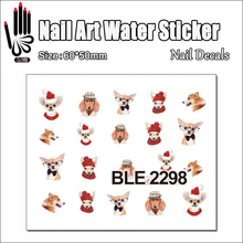1 Sheet Hot Nail BLE2298 Red Cute Cartoon Dog Nail Art Water Transfer Sticker Decal Sticker For Nail Art Decoration