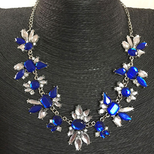 2016 New Women Waterdrop Pendent Choker Statement Collar Bib Chain Necklace Party Jewelry(China)