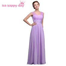 robe de soiree elegant womens a line chiffon long lavender bridesmaid dress dresses 2017 bridesmaids gowns for women H3961