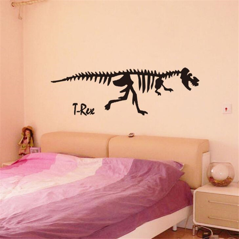 IDFIAF New Design Dinosaur Stick On Wall Decor Decals Saltasaurus Hollow Out Black Printed Home Decor WallStickers(China (Mainland))