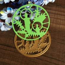 For DIY Scrapbooking Photo Album Paper Card Craft Nice Round Frame Embossing Metal Cutting Dies Stencils Scrapbooking