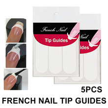 5pcs/set DIY French Nail Art Smile Striping Line Tape Sticker Tips Guide Stencil Manicure Accessories Tools Decoration