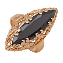 Cool Black Onyx ring for women Health Golden Element  Gold color Fashion Jewelry Wholesale & Retail Ring Sz #7#8#9 JR2024A