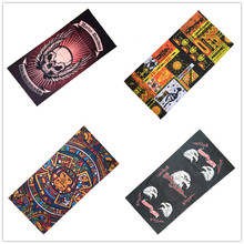 2017 New Harley Herald Scarf Riding Bicycle Motorcycle Bandana Eagle Egyptian Skull Variety Turban Magic Headband Veil Scarves(China)