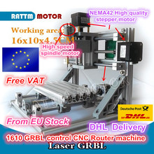 1610 GRBL control DIY mini CNC machine working area 160x100x45mm 3 Axis Pcb Milling machine,Wood Router,cnc router v2.4(China)