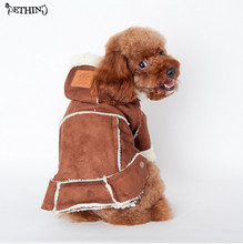 2015 new develop Motorcycle jackets dog jacket berber fleece hooded jacket dog clothes warm Red Yellow Brown
