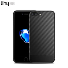 Whyes For Apple iphone 7 Case iphone 7 Plus Case Luxury Carbon Fiber Soft TPU Case Good Hand Feeling Phone Cover For iphone 7(China)