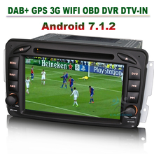 "7"" DAB+ Radio Bluetoot CAM-IN Android 7.1.2 Stereo Sat-Nav Car GPS Navigation for Mercedes C/CLK-Class W203 Viano Vito(China)"