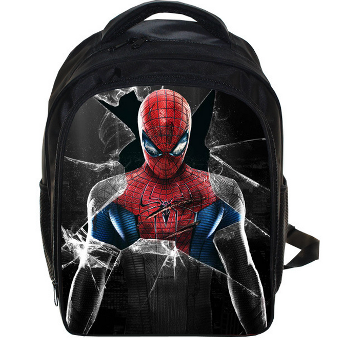 13 Inch SuperHero Spiderman Kids Backpack Children School Bags Boys Girls Daily Backpacks Students Bag Mochila Gift<br><br>Aliexpress