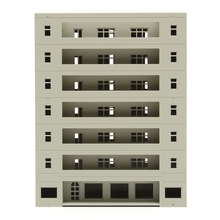 Modern Scale 1:160 Grey Miniatures Models Modern Building Dormitory School Layout DIY Scaled Model Micro Landscape Decor(China)