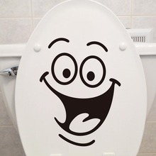 Hot Waterproof Smile Wall Stickers Toilet Stickers Cute PVC Material Sticker Wall Stickers Home Removable Decoration Decor