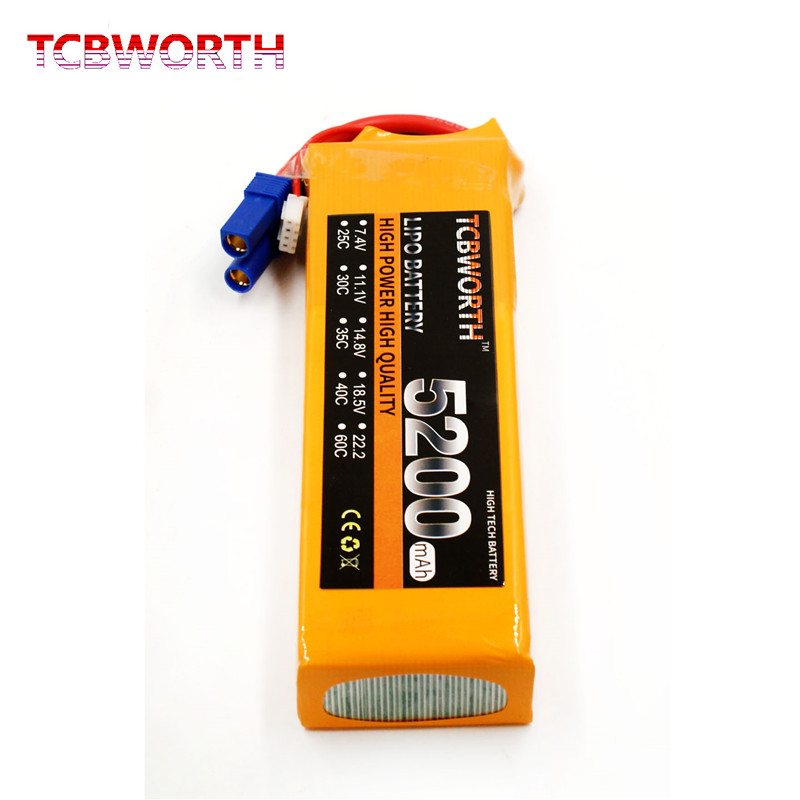 TCBWORTH RC Lipo Battery 11.1V 5200mAh 40C-80C 3S FOR RC Airplane Drone Aircraft Car Boat 3s high-rate cell batteria T/XT60<br>
