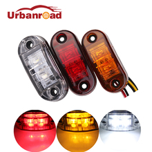 2pcs Red 12V Trailer cars led side marker light indicator clearance lamp 24v truck side lights Car Styling for truck Trailer