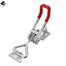 MTGATHER 300Kg/661Lbs Quick Latch Type Toggle Clamp Catch Adjustable Lever Handle Iron Rubber Silver Red Adjustable(China)